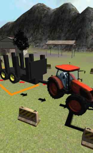 Farming 3D: Tractor Parking 3
