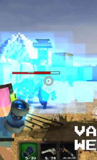 Pixel Z World 3D -Gun & Gunner 2