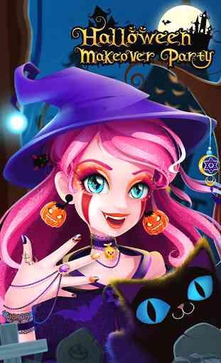 Emma's Halloween Makeup Party 1
