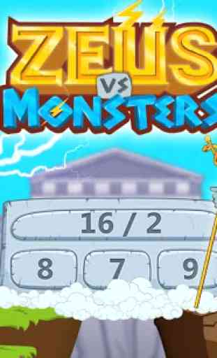 Jeux de maths Zeus vs monstres 1