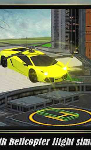 Helicopter Flying Car 2