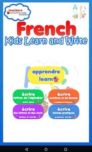 Enfants Écrire en français 1