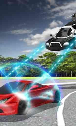 Volant Police voiture électric 1