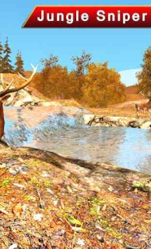 cerf chasse 3D tireur d'élite 1