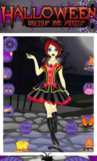 Maquillage Halloween et Dressu 2