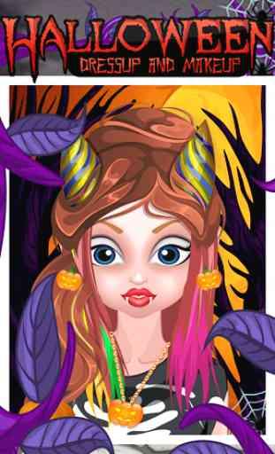 Maquillage Halloween et Dressu 4