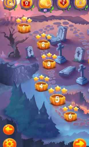 Halloween monstres II: Match 3 3