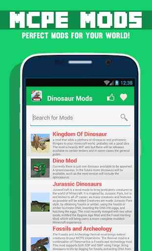 Mods Dinosaur Pour MCPE 1