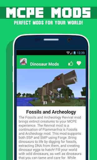 Mods Dinosaur Pour MCPE 2