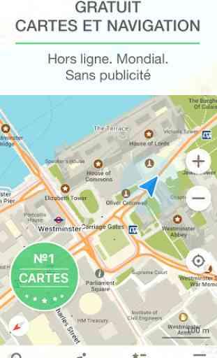 MAPS.ME Cartes avec navigation 1