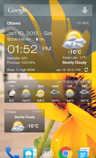 Météo & Horloge Widget Android 1
