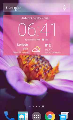Météo & Horloge Widget Android 2