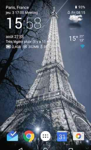 Transparent horloge et météo 1