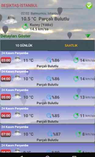 Türkiye Saatlik Hava Durumu 2