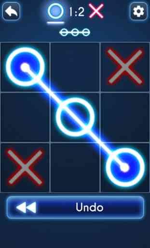 Glow Tic Tac Toe 2