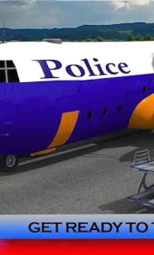 Police Plane Transporter: Moto 1