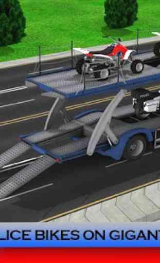 Police Plane Transporter: Moto 2