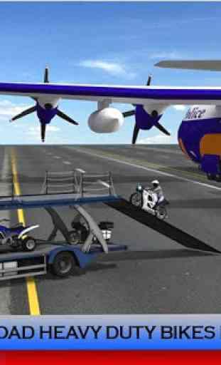 Police Plane Transporter: Moto 3
