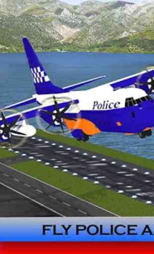 Police Plane Transporter: Moto 4