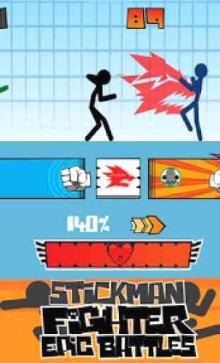 Stickman fighter : Epic battle 4