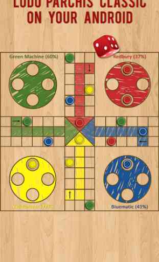 Ludo Parchis Classic Woodboard 1