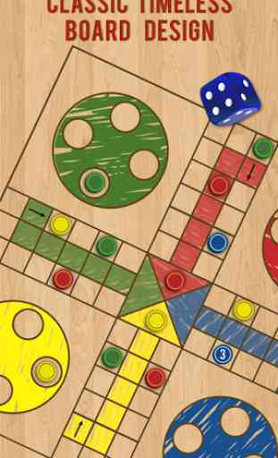 Ludo Parchis Classic Woodboard 3