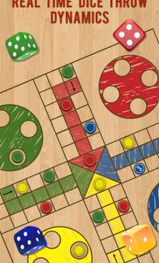 Ludo Parchis Classic Woodboard 4