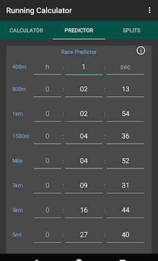 Running Calculator: Pace, Race Predictor, Splits 2