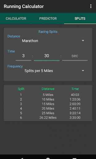 Running Calculator: Pace, Race Predictor, Splits 3