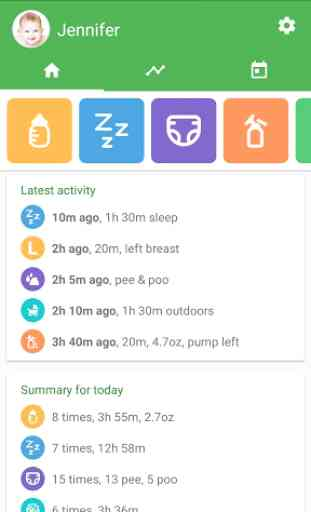 Baby tracker - feeding, sleep and diaper 1