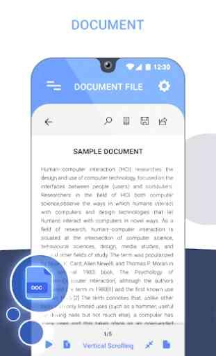 Tous Docs Reader pour visionneuse bureau Android 2