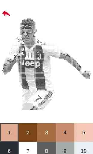 Football Players Color by Number - Pixel Art Games 3