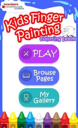 Peinture au doigt enfants 1