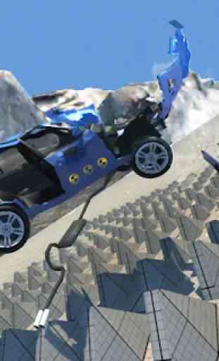 Essai de collision de voiture conduisant X5 M3 2