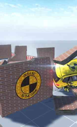Essai de collision de voiture conduisant X5 M3 4