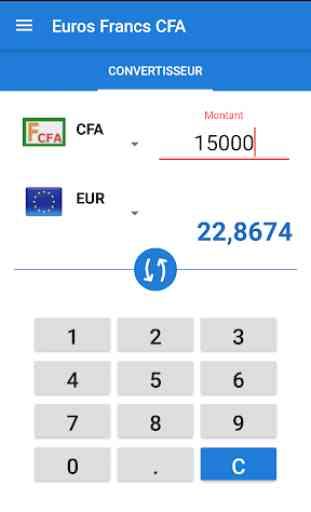 Convertisseur Francs CFA Euros 3