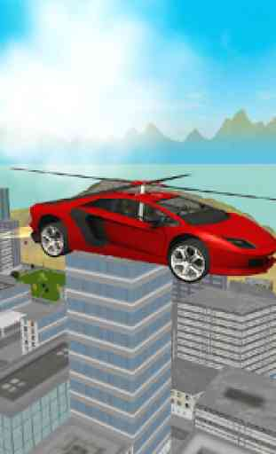 Flying  Helicopter Car 3D Free 1
