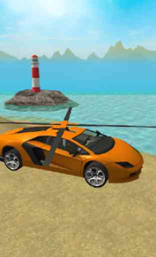 Flying  Helicopter Car 3D Free 3