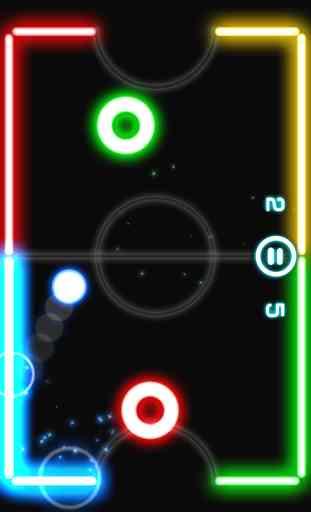 Glow Hockey 2 FREE 1