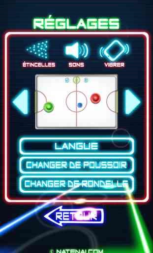 Glow Hockey 2 FREE 3