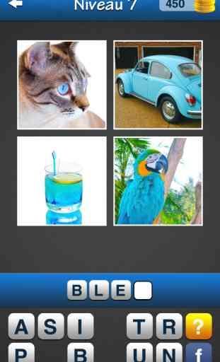 Wordmania ~ Quiz avec des images et des mots. Quel est le mot? 1