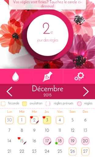 Calendrier Pour Les Regles.Calendrier Des Regles Suivi Application Android