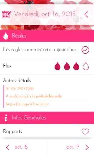 Calendrier Ovulation Et Regle.Calendrier Des Regles Suivi Application Android