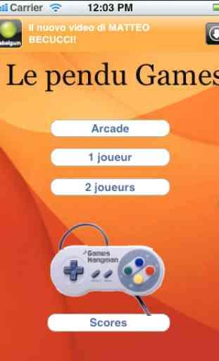 Pendu Jeux Vidéo (Hangman Games) 1