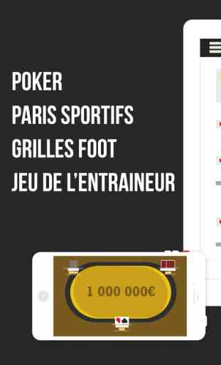 Winamax Poker, Paris Sportifs & Grilles Football 1