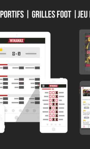 Winamax Poker, Paris Sportifs & Grilles Football 4