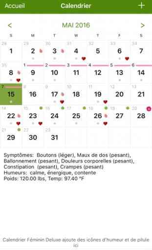 Calendrier Feminin Lite (Period Tracker) 2